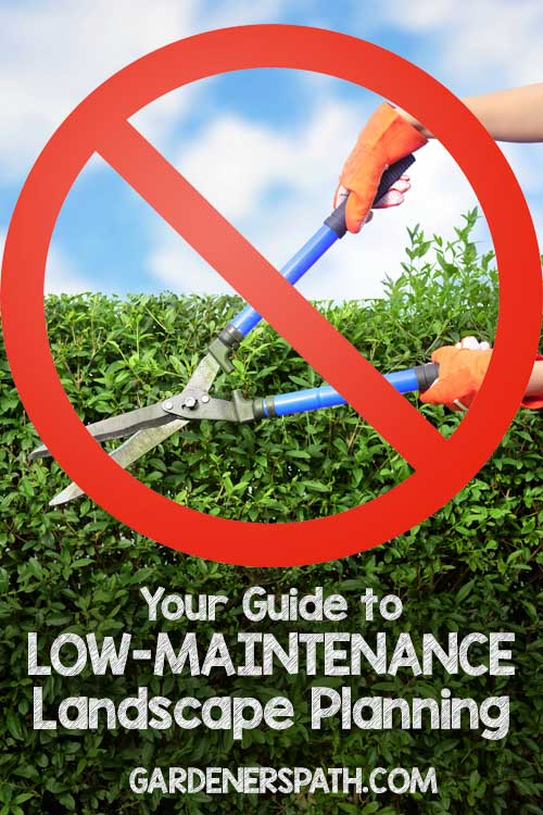 Want to cut down on all that effort you put into your yard, just to make it look good? Sink your loppers into these 10 tips that will lower your yard work requirements in no time, right here at Gardener's Path: https://gardenerspath.com/how-to/design/guide-low-maintenance-landscaping-planning/ ‎
