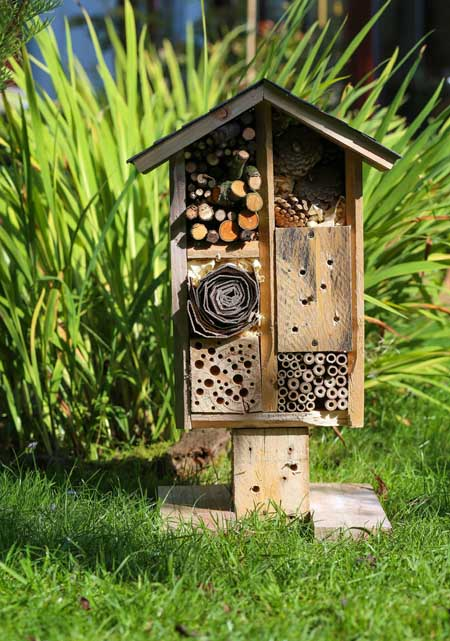 Custom made bee house | Gardnerspath.com