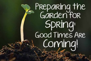 Preparing the Garden for Spring: Good Times Are Coming!