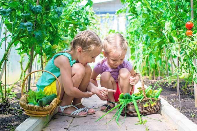 Two Girls in Garden | GardenersPath.com