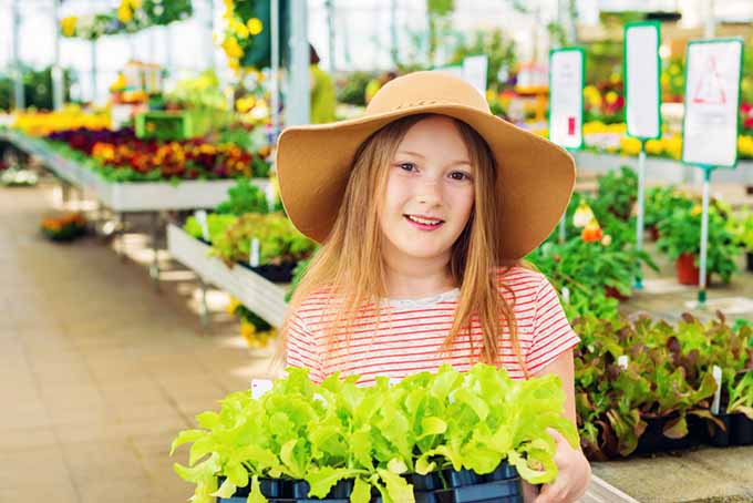 Gardening with Children Girl in Nursery | GardenersPath.com
