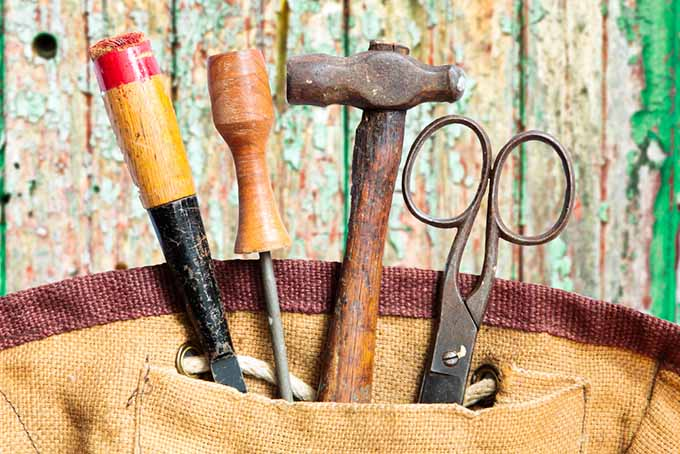 Closeup on Tools and Stitching | GardenersPath.com