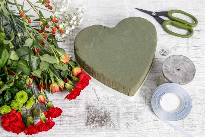 Unique Romantic Blooming Heart Centerpiece | GardenersPath.com