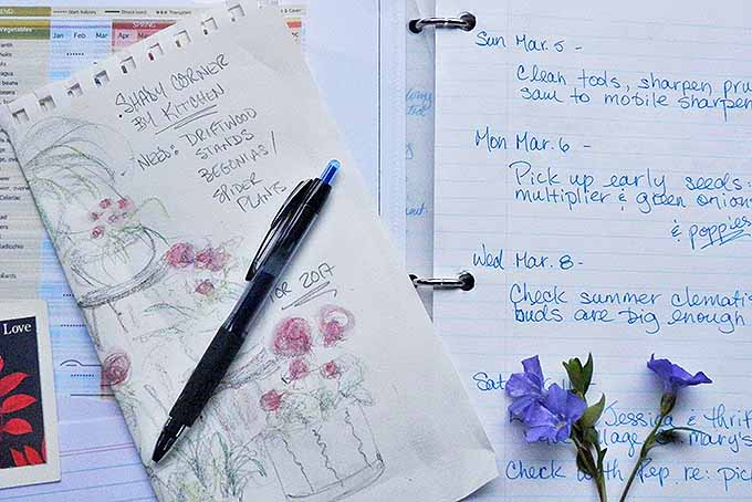Keep a springtime garden journal for planning, and to refer to successes and failures from previous years. | Gardenerspath.com