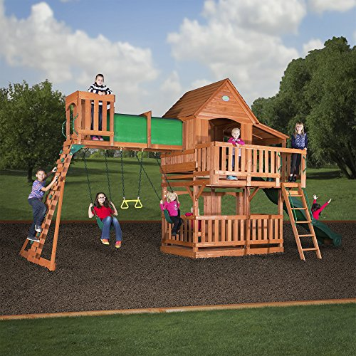 Woodridge II by Backyard Discovery, available on Amazon - The Best Backyard Playground Equipment Of 2017 Gardener's Path