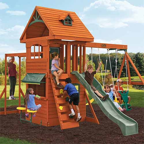 Big Backyard Ridgeview Deluxe Playset - The Best Backyard Playground Equipment Of 2017 Gardener's Path