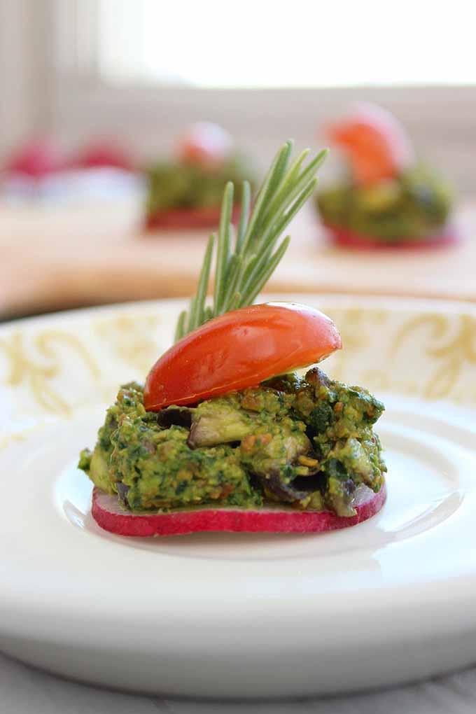 Pistachio Pesto Canapes | GardenersPath.com