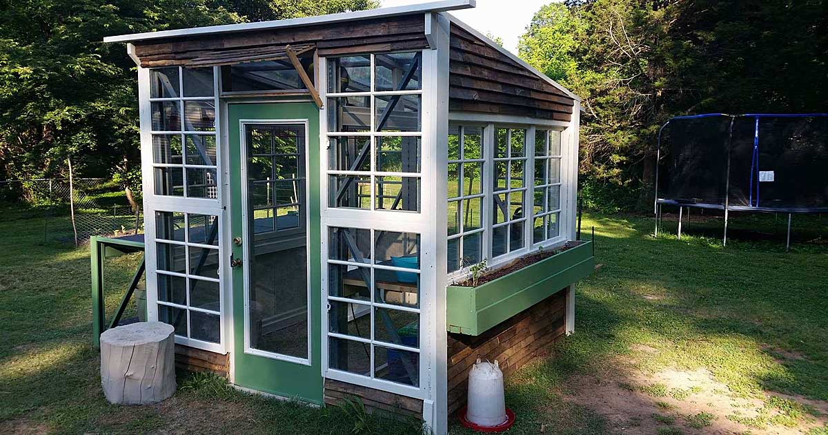 Build A Greenhouse Out Of Free Pallet Racking Gardener S