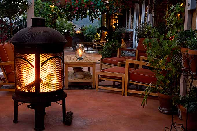 An excellent improvement to your outdoor space, a patio heater or fireplace. | GardenersPath.com