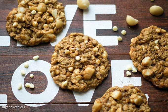 White Chocolate Macadamia Oatmeal Cookies | GardenersPath.com