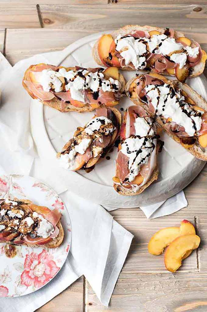 Peach and Burrata Toast | GardenersPath.com