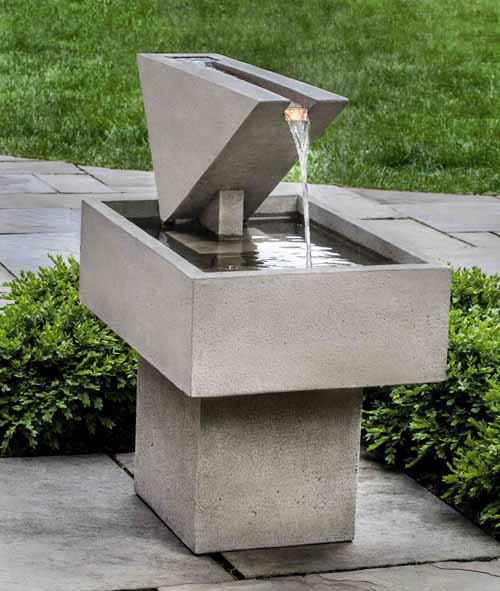 Concrete Triad Fountain