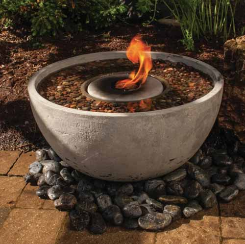 Resin Fire and Water Fountain