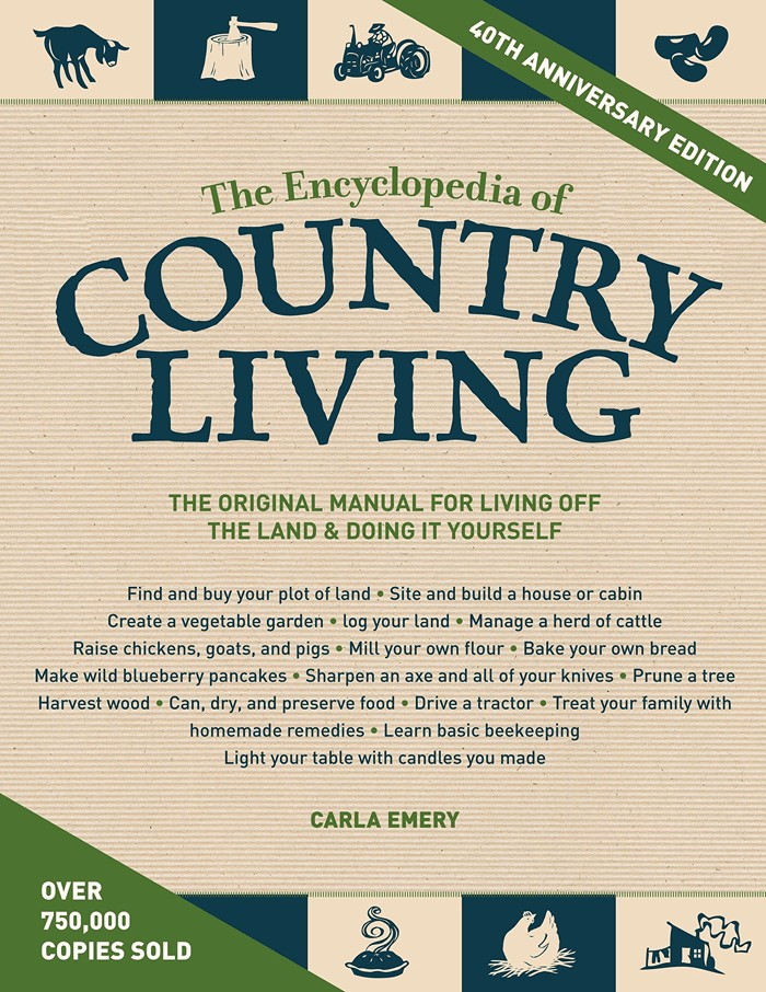 The book cover for The Encyclopedia of Country Living.