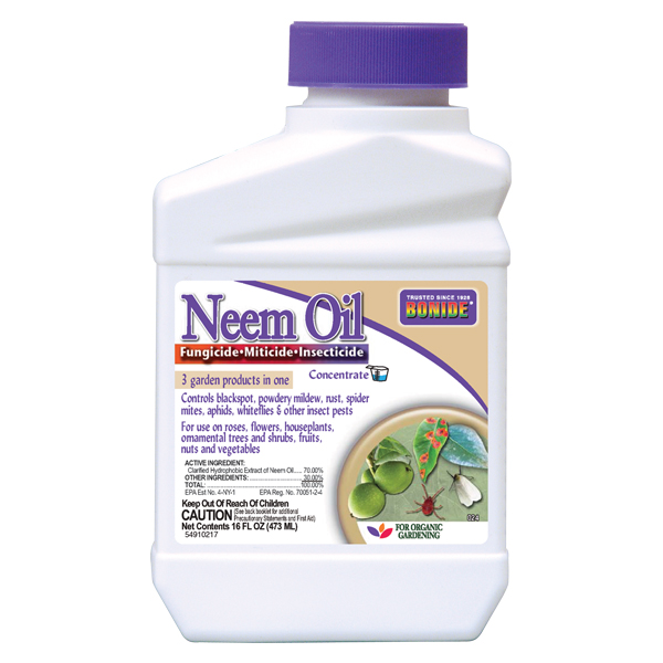 BONIDE® Neem Oil Concentrate on a white, isolated background