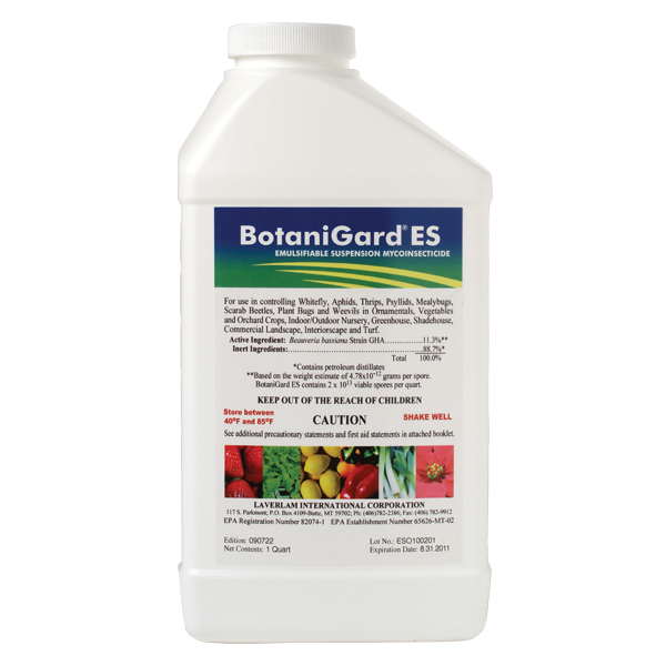 BotaniGard® ES in a gallon jug on a white, isolated background.