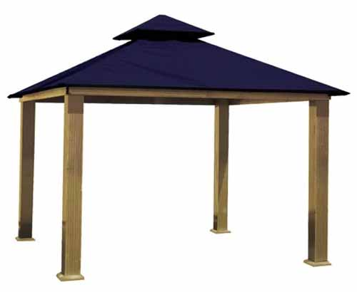 ACACIA 12 Ft. W x 12 Ft. D Aluminum Patio Gazebo on a white, isolated background.