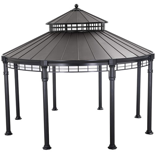 Buffalo 14.5 Ft. W x 14.5 Ft. D Aluminum Patio Gazebo on a white, isolated background.