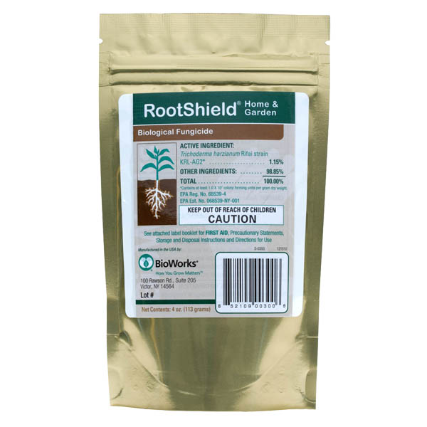 RootShield® Home & Garden Trichoderma Granules in a mylar container.