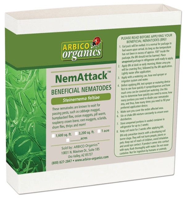 NemAttack™ - Sf Beneficial Nematodes in a commercial package.