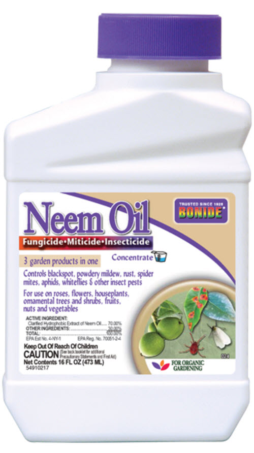 BONIDE Neem Oil on a white, isolated background.
