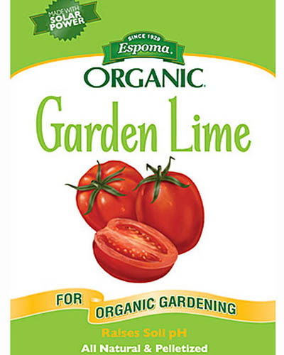 A close up square image of the packaging of Burpee's Garden Lime.